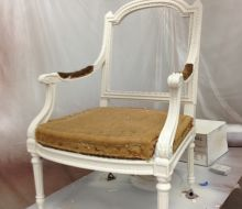 painte white chair frame
