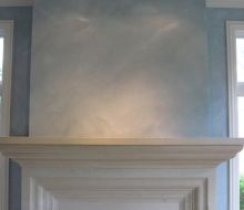 Decorative blue finish on walls