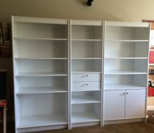 3 white Painted Shelves