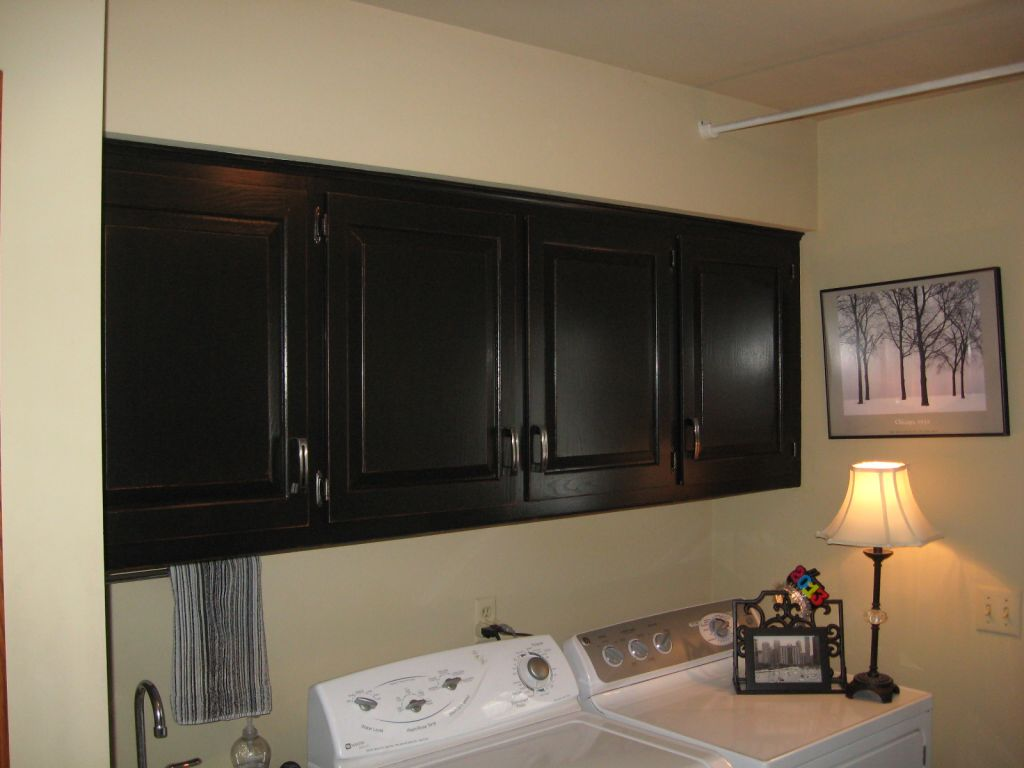Sell Kitchen Cabinets Black Painted Laundry Room Cabinets Change Your Scenery