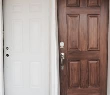 imitation wood grain front door