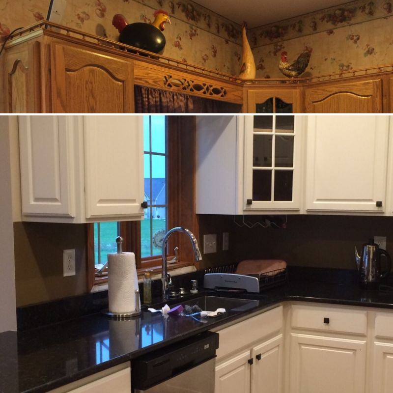 Black Lower And White Upper Kitchen Cabinets cabinet painting   change your scenery
