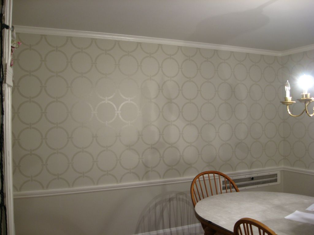 Stencil painters cedarburg wi change your scenery damask stencil circle stencil design on beige wall amipublicfo Gallery