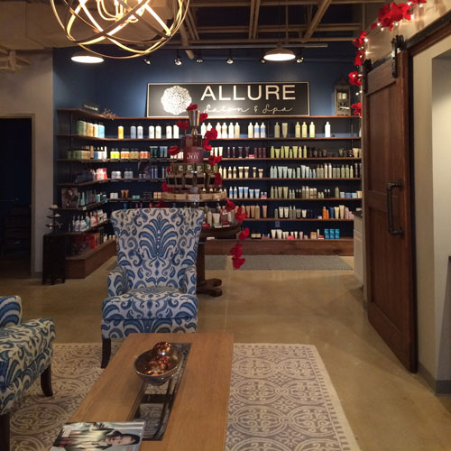 Inside view of Allure Salon Cedarburg